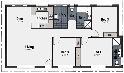 three bedroom two bath house plans 3 bed house plans and home designs wide bay homes hervey bay 5523